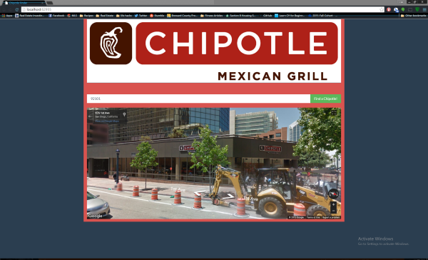 Chipotle Finder Screenshot1